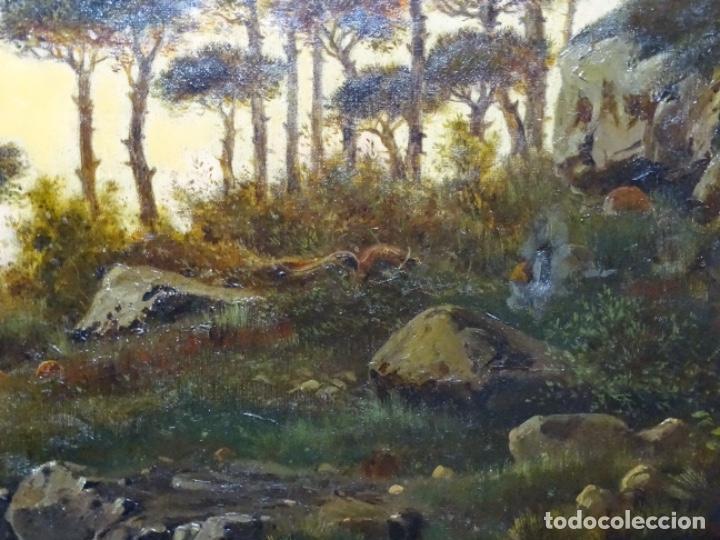 Arte: GRAN ÓLEO SOBRE TELA DEL AÑO 1886 FIRMADO MORU. ESCUELA CATALANA DE GRAN CALIDAD. - Foto 10 - 252703140
