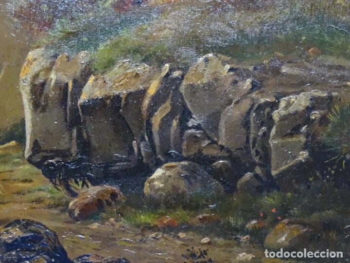 Arte: GRAN ÓLEO SOBRE TELA DEL AÑO 1886 FIRMADO MORU. ESCUELA CATALANA DE GRAN CALIDAD. - Foto 11 - 252703140