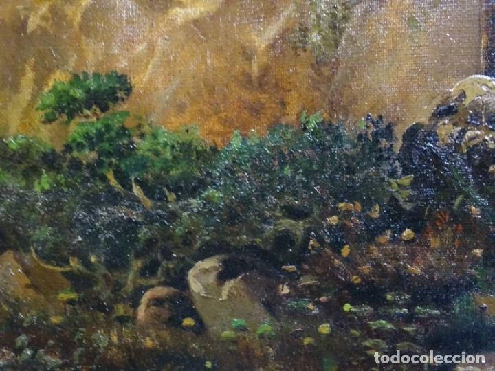 Arte: GRAN ÓLEO SOBRE TELA DEL AÑO 1886 FIRMADO MORU. ESCUELA CATALANA DE GRAN CALIDAD. - Foto 12 - 252703140