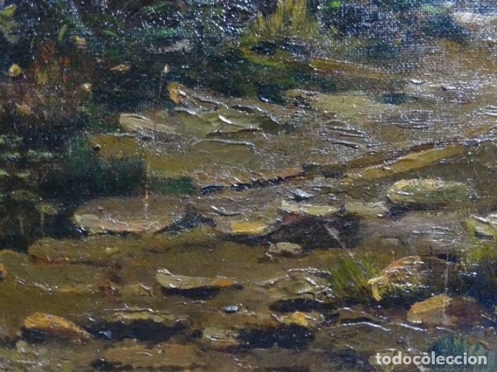 Arte: GRAN ÓLEO SOBRE TELA DEL AÑO 1886 FIRMADO MORU. ESCUELA CATALANA DE GRAN CALIDAD. - Foto 13 - 252703140