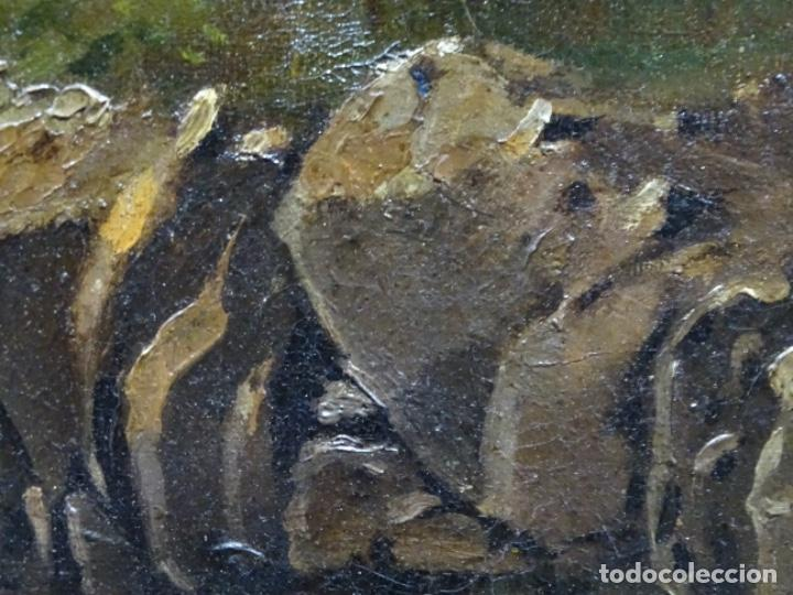 Arte: GRAN ÓLEO SOBRE TELA DEL AÑO 1886 FIRMADO MORU. ESCUELA CATALANA DE GRAN CALIDAD. - Foto 15 - 252703140