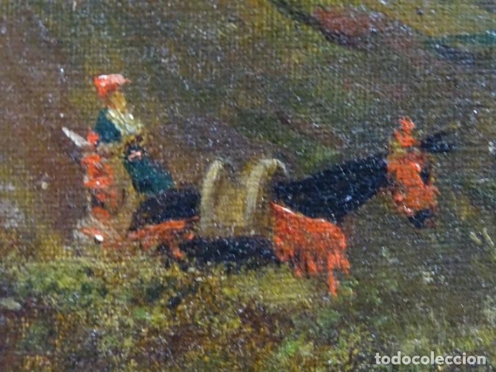Arte: GRAN ÓLEO SOBRE TELA DEL AÑO 1886 FIRMADO MORU. ESCUELA CATALANA DE GRAN CALIDAD. - Foto 16 - 252703140
