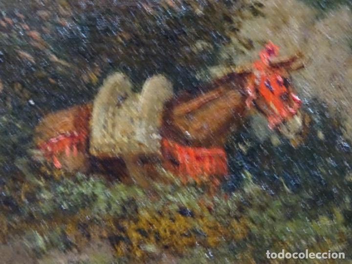 Arte: GRAN ÓLEO SOBRE TELA DEL AÑO 1886 FIRMADO MORU. ESCUELA CATALANA DE GRAN CALIDAD. - Foto 17 - 252703140
