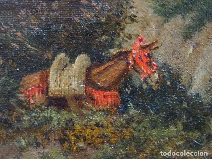 Arte: GRAN ÓLEO SOBRE TELA DEL AÑO 1886 FIRMADO MORU. ESCUELA CATALANA DE GRAN CALIDAD. - Foto 18 - 252703140