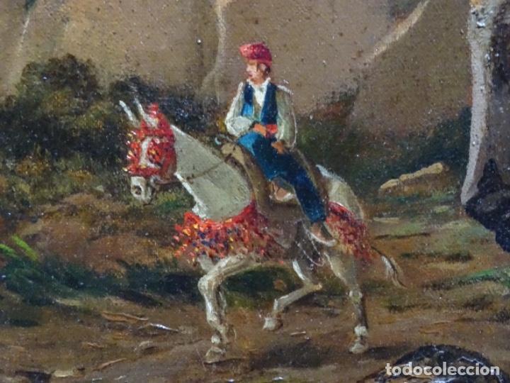 Arte: GRAN ÓLEO SOBRE TELA DEL AÑO 1886 FIRMADO MORU. ESCUELA CATALANA DE GRAN CALIDAD. - Foto 19 - 252703140