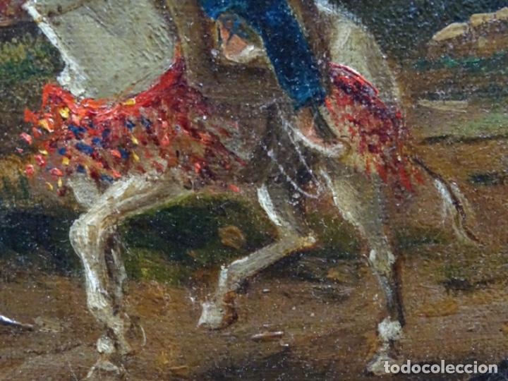 Arte: GRAN ÓLEO SOBRE TELA DEL AÑO 1886 FIRMADO MORU. ESCUELA CATALANA DE GRAN CALIDAD. - Foto 21 - 252703140