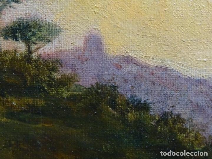 Arte: GRAN ÓLEO SOBRE TELA DEL AÑO 1886 FIRMADO MORU. ESCUELA CATALANA DE GRAN CALIDAD. - Foto 23 - 252703140