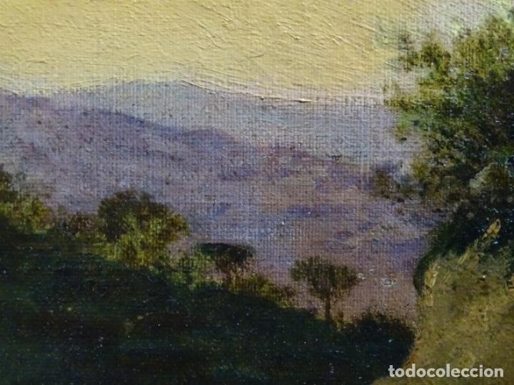 Arte: GRAN ÓLEO SOBRE TELA DEL AÑO 1886 FIRMADO MORU. ESCUELA CATALANA DE GRAN CALIDAD. - Foto 24 - 252703140