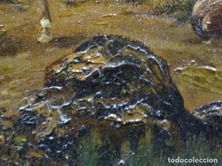 Arte: GRAN ÓLEO SOBRE TELA DEL AÑO 1886 FIRMADO MORU. ESCUELA CATALANA DE GRAN CALIDAD. - Foto 25 - 252703140