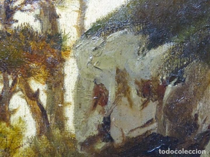 Arte: GRAN ÓLEO SOBRE TELA DEL AÑO 1886 FIRMADO MORU. ESCUELA CATALANA DE GRAN CALIDAD. - Foto 27 - 252703140
