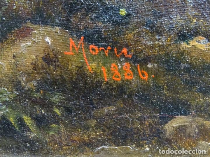 Arte: GRAN ÓLEO SOBRE TELA DEL AÑO 1886 FIRMADO MORU. ESCUELA CATALANA DE GRAN CALIDAD. - Foto 28 - 252703140