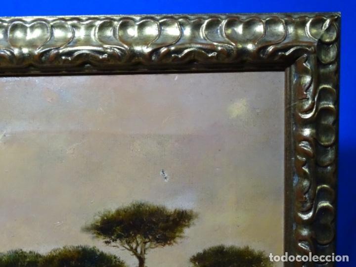 Arte: GRAN ÓLEO SOBRE TELA DEL AÑO 1886 FIRMADO MORU. ESCUELA CATALANA DE GRAN CALIDAD. - Foto 30 - 252703140