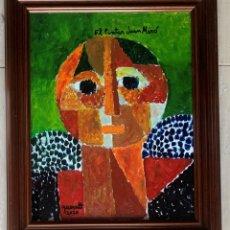 Arte: JOAN QUERALT DE QUADRAS (1.947) - OBRA 2.020 - ENMARCADO MADERA 57 X 47 CERTIFICADO DE AUTENTICIDAD.. Lote 252732785
