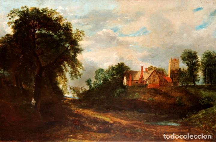 ANONIMO DEL SIGLO XIX. OLEO SOBRE TELA. PAISAJE (Arte - Pintura - Pintura al Óleo Moderna siglo XIX)