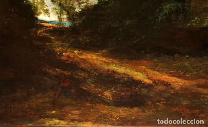 Arte: ANONIMO DEL SIGLO XIX. OLEO SOBRE TELA. PAISAJE - Foto 5 - 252765725