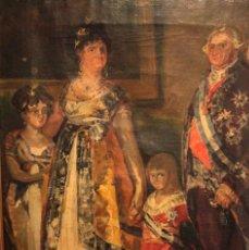 Arte: FRAGMENTO DE LA FAMILIA DE CARLOS IV DE GOYA. OLEO SOBRE LIENZO. ENMARCADO. 59X44. Lote 252810845