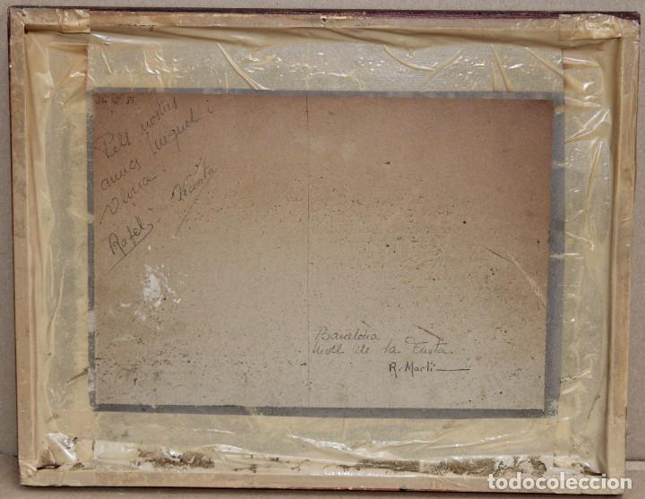 Arte: RICARD MARTI AGUILO (Barcelona, 1868-1936) GOUACHE SOBRE CARTON. MOLL DE LA FUSTA (BARCELONA) - Foto 7 - 253068925