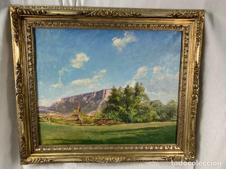 ALEGRE PAISAJE - JOAN COLOM AGUSTÍ ( 1879-1969) ÓLEO SOBRE TELA - CON MARCO 92 X 80 CM. (Arte - Pintura - Pintura al Óleo Contemporánea )