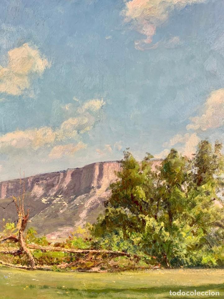 Arte: ALEGRE PAISAJE - JOAN COLOM AGUSTÍ ( 1879-1969) ÓLEO SOBRE TELA - CON MARCO 92 X 80 CM. - Foto 3 - 253096010