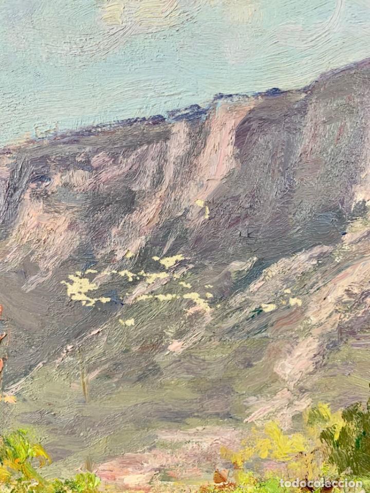 Arte: ALEGRE PAISAJE - JOAN COLOM AGUSTÍ ( 1879-1969) ÓLEO SOBRE TELA - CON MARCO 92 X 80 CM. - Foto 4 - 253096010