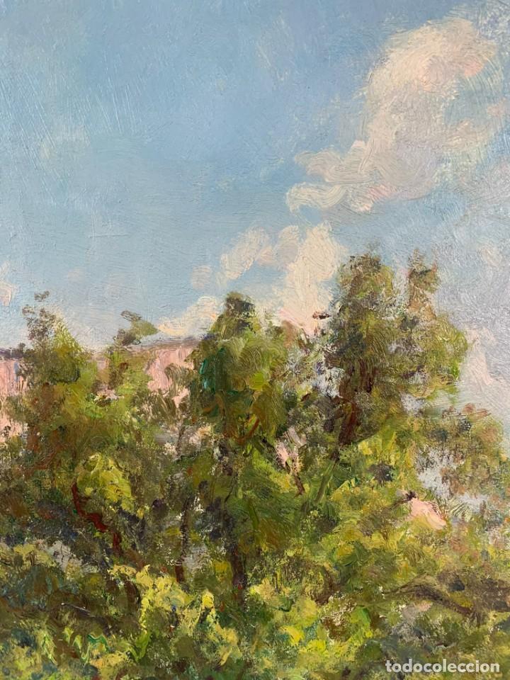 Arte: ALEGRE PAISAJE - JOAN COLOM AGUSTÍ ( 1879-1969) ÓLEO SOBRE TELA - CON MARCO 92 X 80 CM. - Foto 5 - 253096010