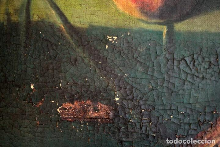 Arte: Bodegón con florero, oleo sobre lienzo. Esc. Valenciana s.XIX? firmado y enmarcado 69x60cm - Foto 7 - 253141640
