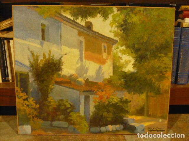 PINTURA AL OLEO DE ROS Y GÜELL, 1877- 1954 PAISAJE CON CASA, PINTOR MODERNISTA CATALAN. (Arte - Pintura - Pintura al Óleo Moderna siglo XIX)