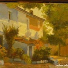 Arte: PINTURA AL OLEO DE ROS Y GÜELL, 1877- 1954 PAISAJE CON CASA, PINTOR MODERNISTA CATALAN.. Lote 253150850
