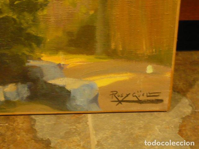 Arte: Pintura al Oleo de Ros y Güell, 1877- 1954 paisaje con casa, pintor modernista catalan. - Foto 2 - 253150850