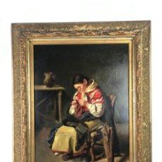 Arte: JOSÉ MARIA MENDIGUCHIA TALAVERA DE LA REINA.ÓLEO SOBRE CARTÓN FIN SG XIX FIRMADO.. Lote 253164055
