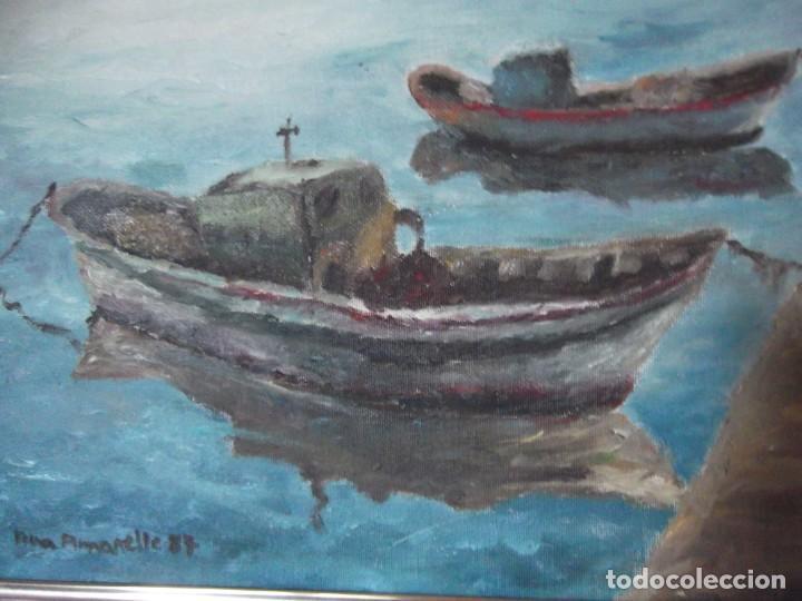 Arte: Magnifica obra marítima técnica oleo año 87 , firmada de 36 x 46 de ancho - Foto 2 - 253223905