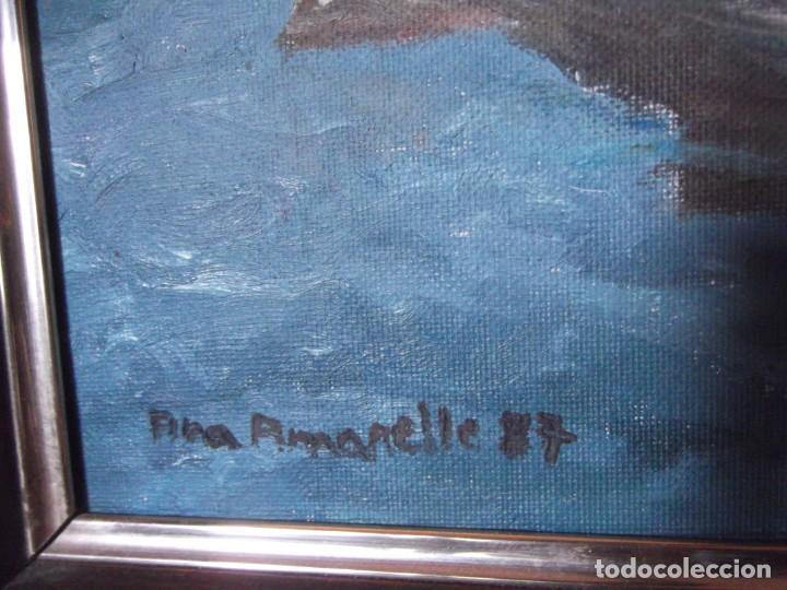 Arte: Magnifica obra marítima técnica oleo año 87 , firmada de 36 x 46 de ancho - Foto 3 - 253223905