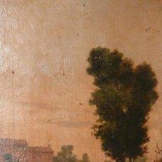 Arte: OLEO SOBRE TABLA DE ANDRÉS SANDOVAL. Lote 253295125