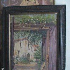Arte: ÓLEO SOBRE TABLA. J.PELEGRÍ. 1920. MASIA CATALANA.. Lote 253295395