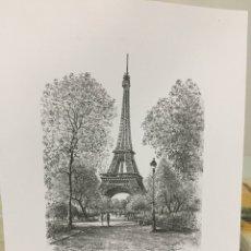 Arte: LAMINA PAISAJE DE PARIS. 18X24. Lote 253340150