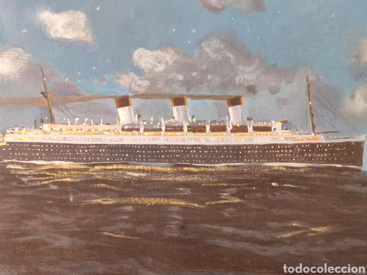 TITANIC PINTADO POR EL PINTOR MALAGUEÑO AYUSO (Arte - Pintura - Pintura al Óleo Moderna sin fecha definida)