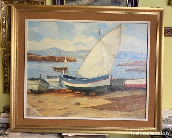 MIGUEL VAQUER OLEO/LIENZO MEDIDAS 92X73 CON MARCO 116X96 (Arte - Pintura - Pintura al Óleo Moderna sin fecha definida)