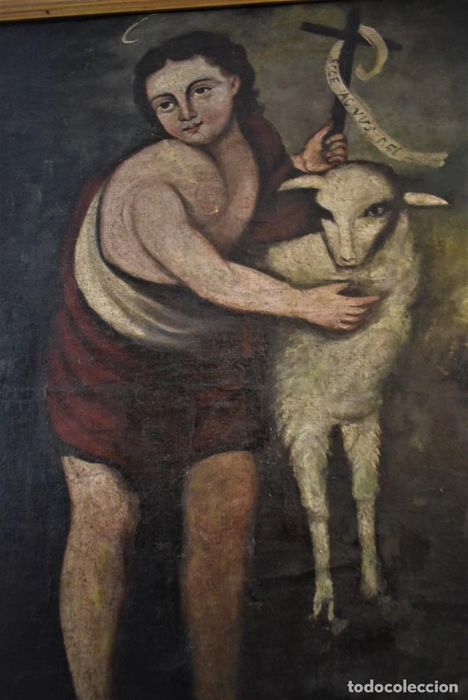 Arte: Óleo san Juan Bautista s.XVIII - Foto 4 - 253478575