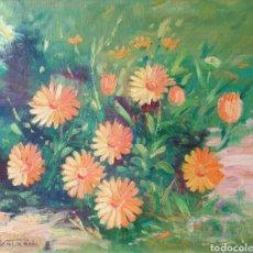 Arte: PERE REIXACH I FUSTER - MARGARIDAS.OLEO/TELA.FIRMADO.TITULADO.1988.. Lote 253551440
