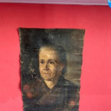Arte: RETRATO DE EL SIGLO XVIII ÓLEO SOBRE LIENZO PARA RESTAURAR FIRMADO . VER FOTOS (58X37CM). Lote 253650215