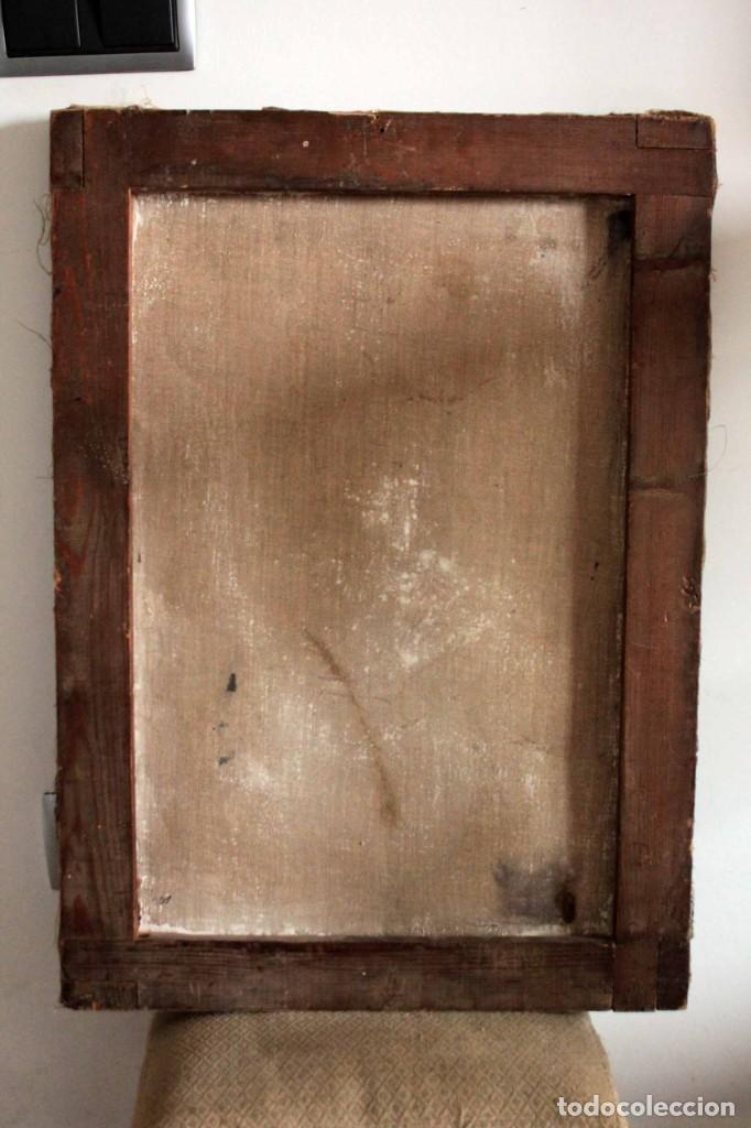 Arte: Fumando en pipa, oleo sobre lienzo. Gran calidad, sin firma aparente. 69x50cm - Foto 9 - 253655335