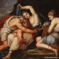 Arte: LOT Y SUS HIJAS, ANTIGUA PINTURA DEL SIGLO XVII. Lote 253669320