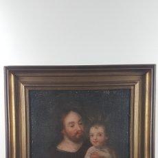Arte: SAN JOSÉ CON NIÑO, ESCUELA ANDALUZA, SEVILLA, FINALES SIGLO XVII. Lote 253839035
