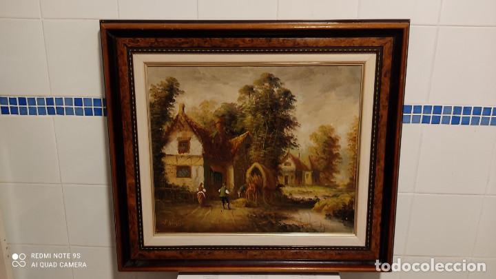 PINTURA OLEO CON AUTOR (Arte - Pintura - Pintura al Óleo Moderna siglo XIX)