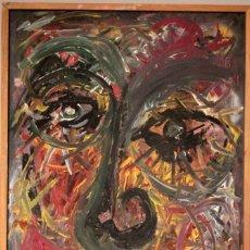 Arte: RETRATO EXPRESIONISTA PINTADO AL OLEO, SIN FIRMA APARENTE. 90X60CM. Lote 253900355
