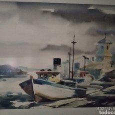 Arte: MARINA DE GUILLOT, FIRMADO Y CERTIFICADO PINTADO POR AMISTAD , DEDICADO. Lote 253911430