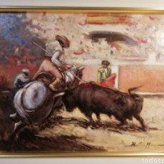 Arte: CUADRO ÓLEO TAURINO BELTRÁN MESSA. Lote 253917680