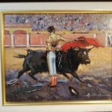 Arte: CUADRO ÓLEO TOROS BELTRÁN MESSA. Lote 253918080