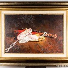 Arte: ROTUNDO BODEGÓN DE SERGIO BOSQUE GARCÍA, ARTISTA DE ZARAGOZA. FIRMADO Y FECHADO EN 1989. Lote 253919075