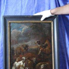 "Arte: ATRIBUIDO A ""ROSA DE TIVOLI"" ROOS, PHILIPP PETER. PAISAJE CON GANADO. Lote 63278564"